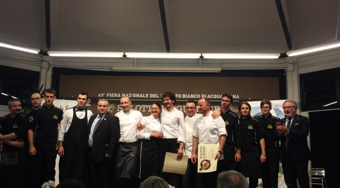 SHOW COOKING DI PESCE E TARTUFO alla Fiera di Acqualagna 2014